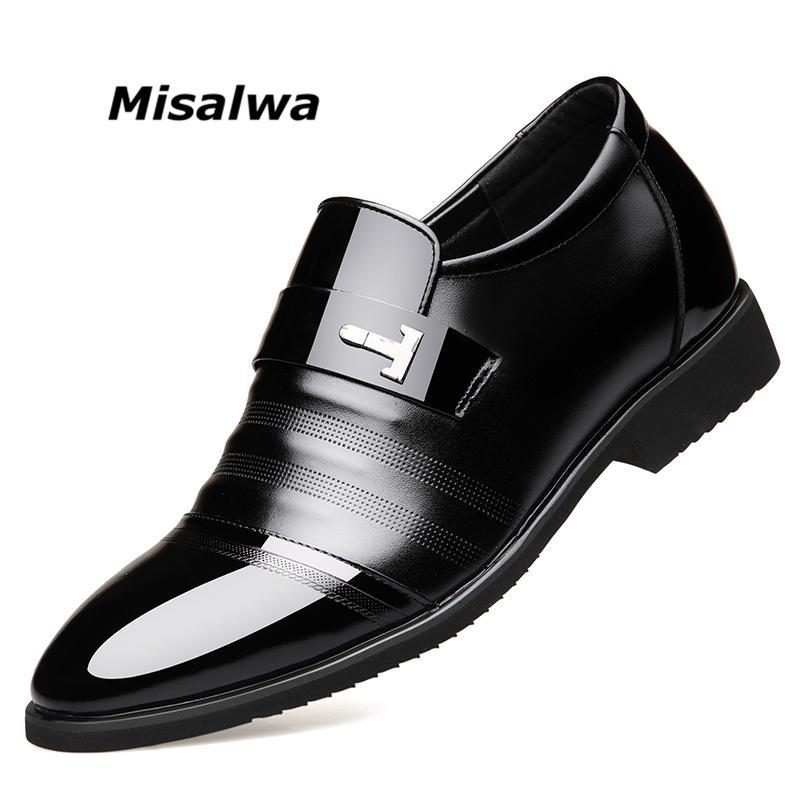 f6e6e282 Compre Misalwa De Lujo De Alta Calidad De Cuero Genuino De Los Hombres  Zapatos De Elevación Zapatos De Vestir Altura Invisible Aumento De Ascensor  De ...