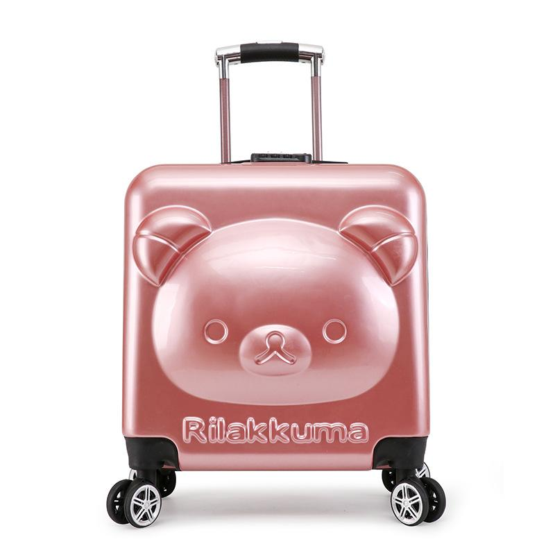 34a4dee4dc85 Children s Suitcase 18/20inch PC girl cartoon Pull rod box trolley case 3D  child Travel luggage anime Kids suitcase with wheels