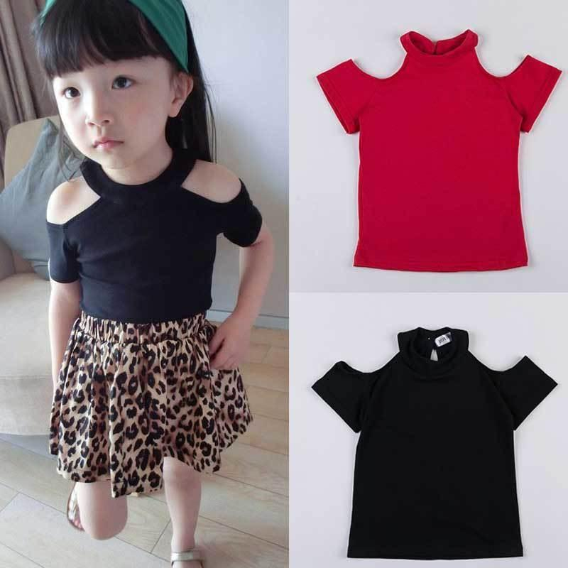 New Design Hollow Out Kids Girls Shirt Short Sleeve Children T Shirts For Girl Top Clothes Clothing Summer Spring