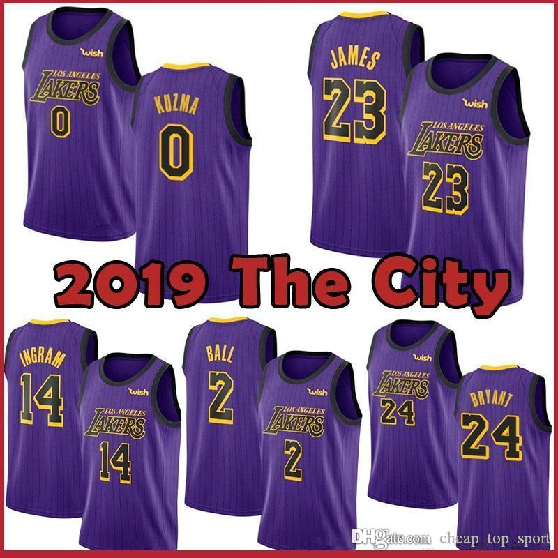 100% authentic 5e350 052bc 23 James Laker Jersey 0 Kyle LeBron Kuzma Men Youth 2019 Los Angeles James  Laker 2 Ball 14 Brandon Lonzo Ingram 24 Bryant new Kobe