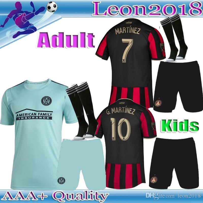 promo code 52eb8 6569b Adult kids kit 2019 2020 MLS Parley Atlanta United FC jersey G.MARTINEZ  MARTINEZ home soccer jerseys 19 20 youth BARCO football shirts
