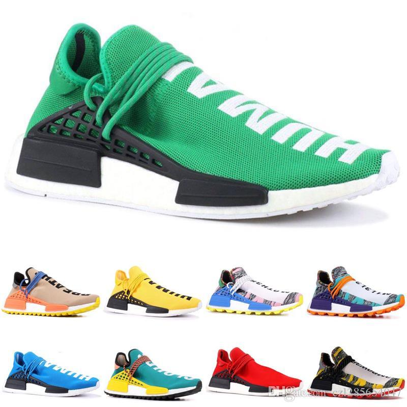 226e8df14decc 2019 NMD Solar Pack Creme X NERD Human Race Running Shoes Pharrell Williams  Cream Core Black Equality Mens Women Trainers Sneakers With Box RUNNING  SHOES ...