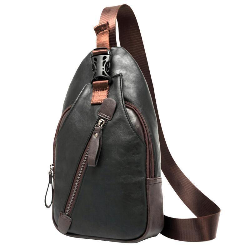 4008160941 Men S Male Chest Single Shoulder Bag Korean Fashion Casual Messenger Pu  Leather Crossbody Hand Bags For Men Travel Bag Handbags White Handbags  Satchel ...