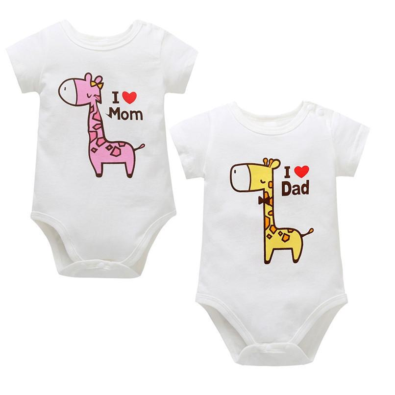 1a503e26c76 2019 Summer Baby Romper Newborn Infant Cartoon Giraffe Letter Printed Short Sleeve  Jumpsuit Romper Baby Clothes Baby Costume J02 From Cynthia01