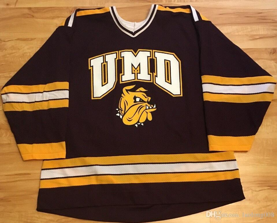 2019 Vintage UMD DULUTH BULLDOGS VINTAGE MAROON HOCKEY JERSEY Embroidery  Stitched Customize Any Number And Name Jerseys From Luolong008 c92784b2d9f