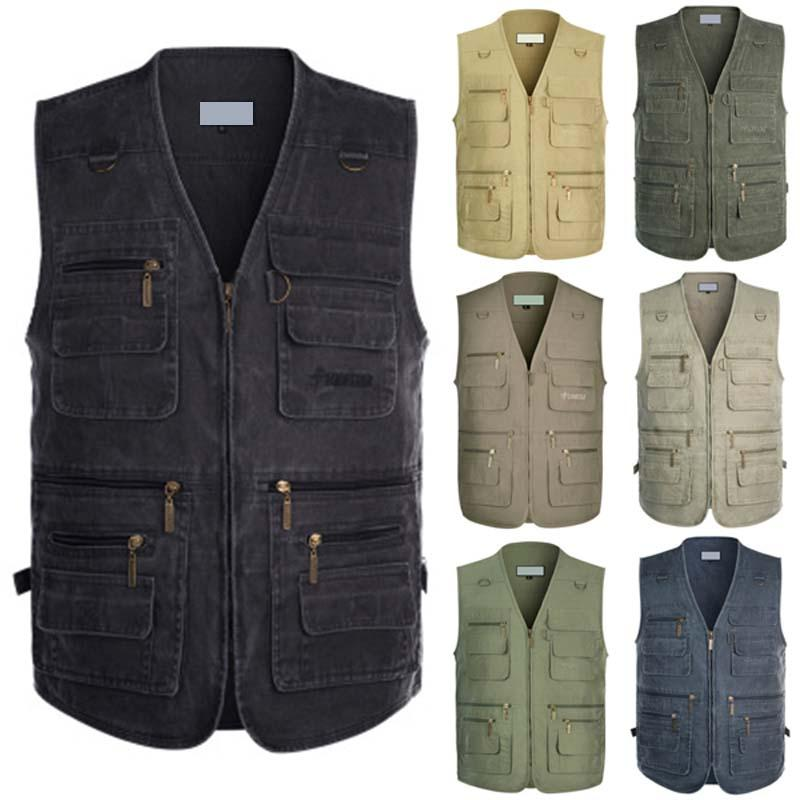 2019 Denim Vest Mens Jacket Sleeveless Cotton Casual Waistcoat Male Jean Coat Slim Fit Outerwear Cowboy Pockets Plus Size 5XL