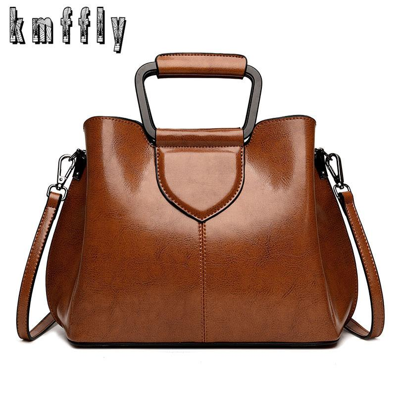 2019 Women Retro Leather Shoulder Bag Female Vintage Daily Handbag Elegant Crossbody Bag For Shopping All-match Casual Tote Bags