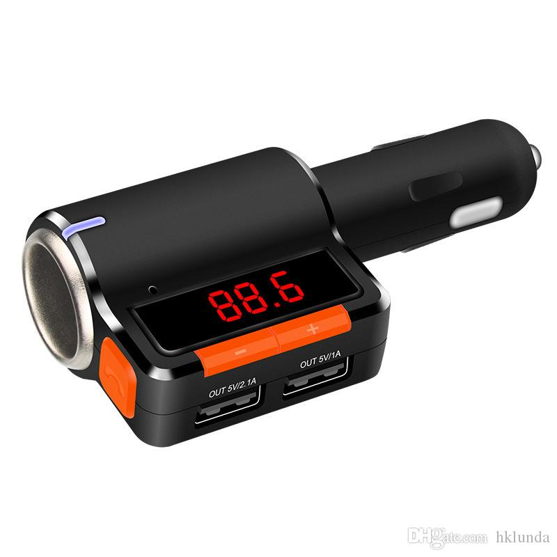 Car MP3 Audio Player Bluetooth FM Transmitter Wireless FM Modulator Car Kit car usb player double USB Charger BC09