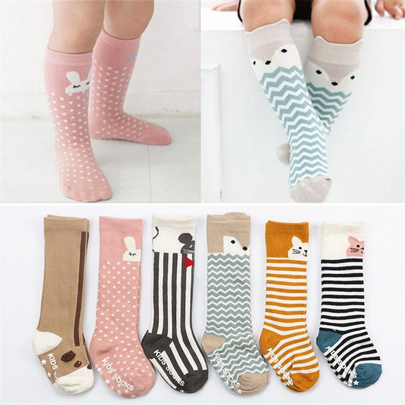 49fb5e0087c Baby Socks Newborn Kids Girl Boy Animal Pattern Anti Slip Knee High Sock  Fox Cat Cotton Cute Cartoon Infant Toddler Neon Socks Fun Dress Socks From  Tzlsasa1 ...
