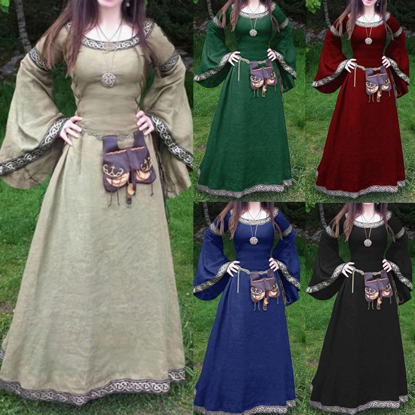 608613880e0b3 Women's Plus Size High Quality Women Medieval Renaissance Long Maxi ...