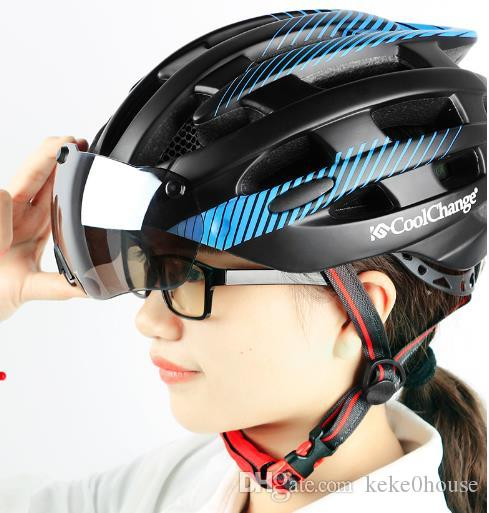 2019 Riding Helmet Mountain Bike Goggles Glasses Integrated Men And