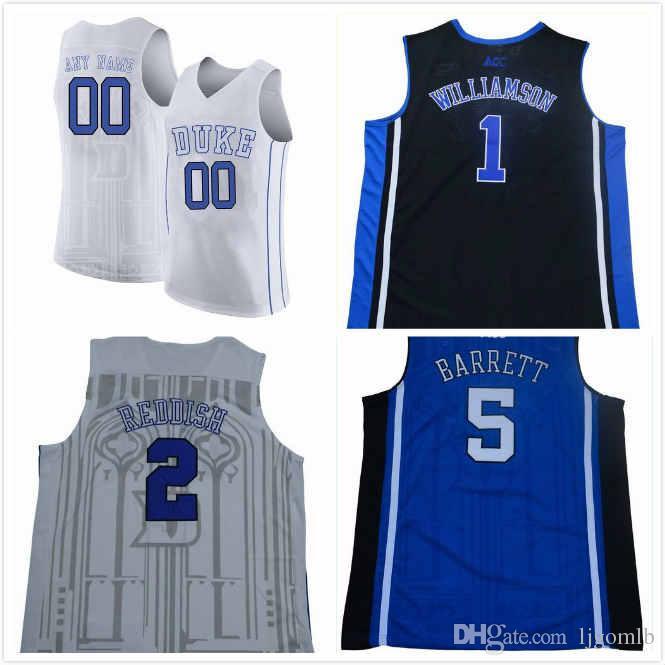online store 00ced f3def RJ Barrett Jersey 5 Cam Reddish Jersey 2 Zion Williamson 1 Duke Blue Devils  2019 Jerseys Stitched S-3XL