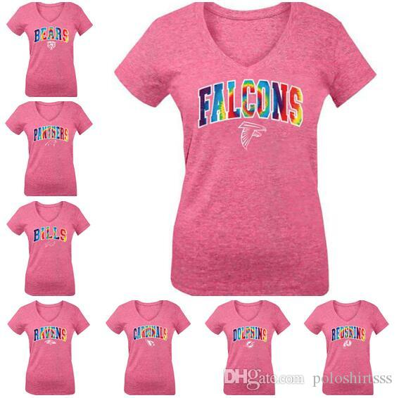 Cincinnati Carolina Buffalo Baltimora Atlanta Donna Falcons Ravens Bills Panthers Bengals By New Era Pink Girls Youth Tri-Blend T-Shirt