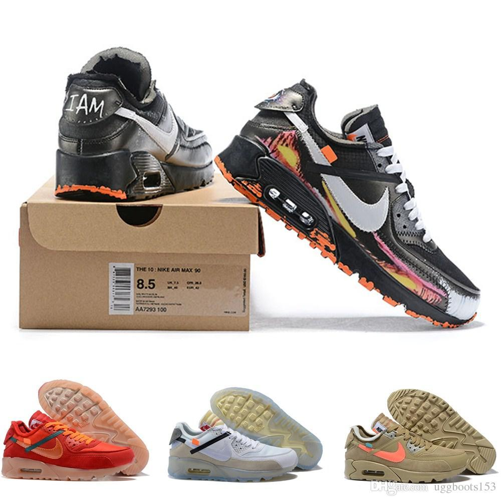 5dd3b1b1ad4 Best Quality 90 OFF Air ICE White Desert Ore All Black Running Shoes ...