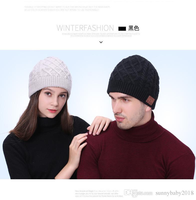 924b2483be784 Wholesale Bluetooth Music Beanie Hats Wireless Smart Cap Headset ...
