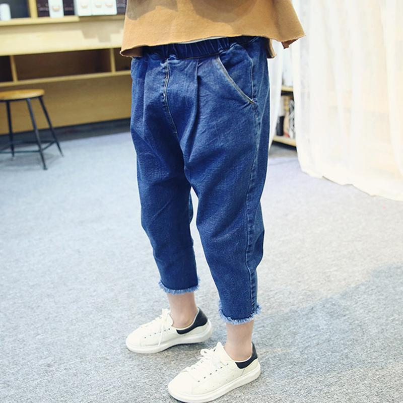 acce36ea46aa3 Children's Clothing Boys And Girls Korean Version Of The Tide Harlan Jeans  Leisure Loose Pants 2019 Spring New