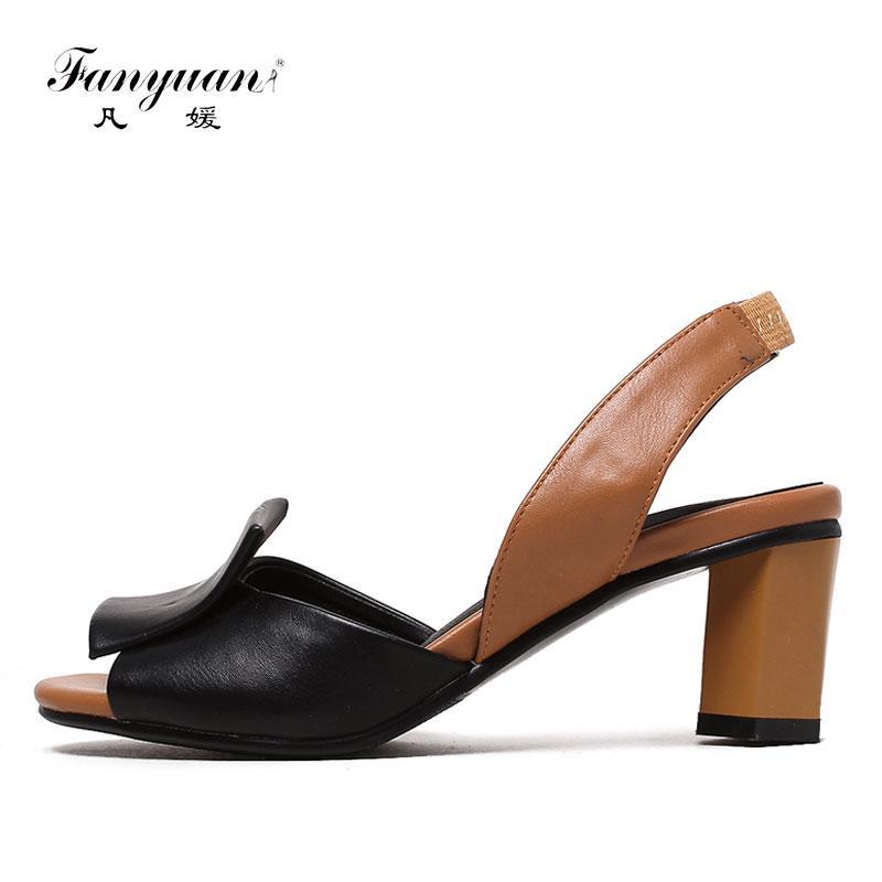 Acquista Fanyuan 2019 Scarpe Estive Donna Sandali Colori Misti Sandali Donna  Elegante Cinturino Posteriore Tacchi Alti Scarpe Da Sera Donna A  24.78 Dal  ... 38143ae0625