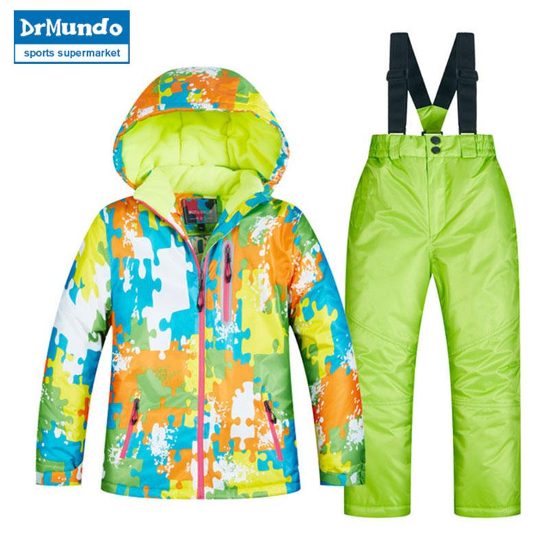 2019 2018 Children S Ski Wear Children S Windproof Waterproof Warm Girls  And Boys Snow Pants Winter Ski And Snowboard Jacket Children From Bluelike 003861f19