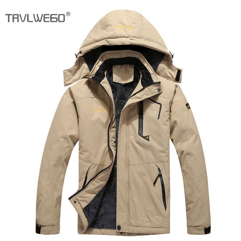 2019 TRVLWEGO Plus Size Ski Jacket Windproof Snowboard Winter Jacket Men  Waterproof Outdoor Climbing Hiking Coat Hoodie Sportswear From Bluelike b318935b2