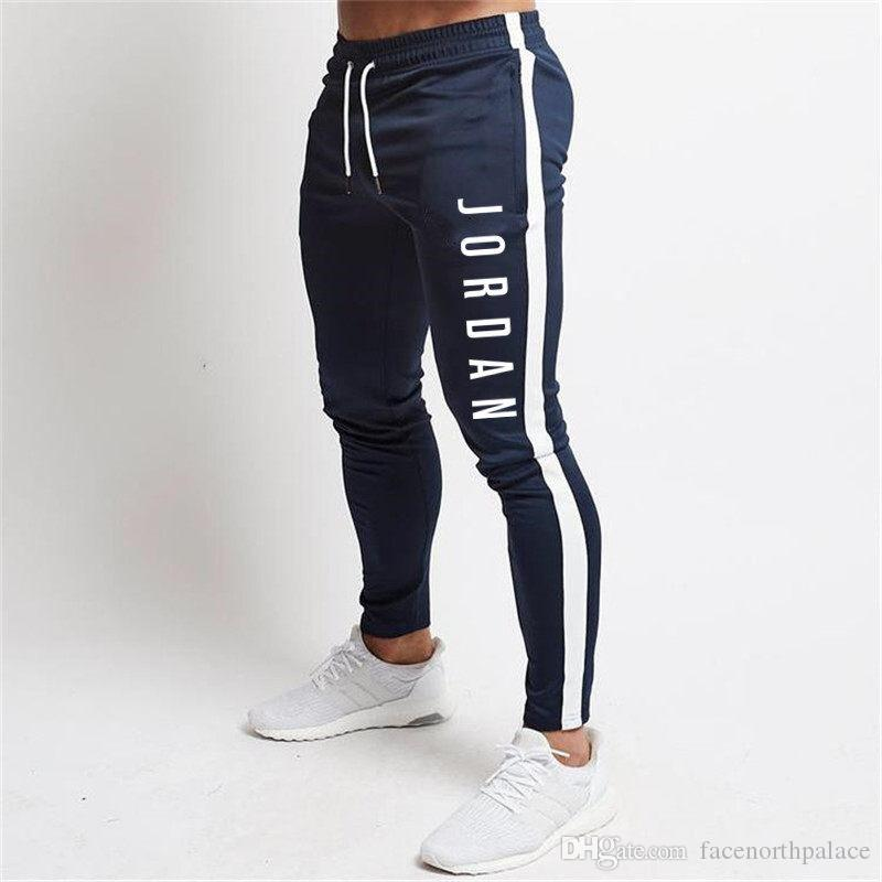 Letters Printed Mens Pants Skinny Sport Drawstring Mens Pencil Pants Popular Style Luxury Mens Trousers