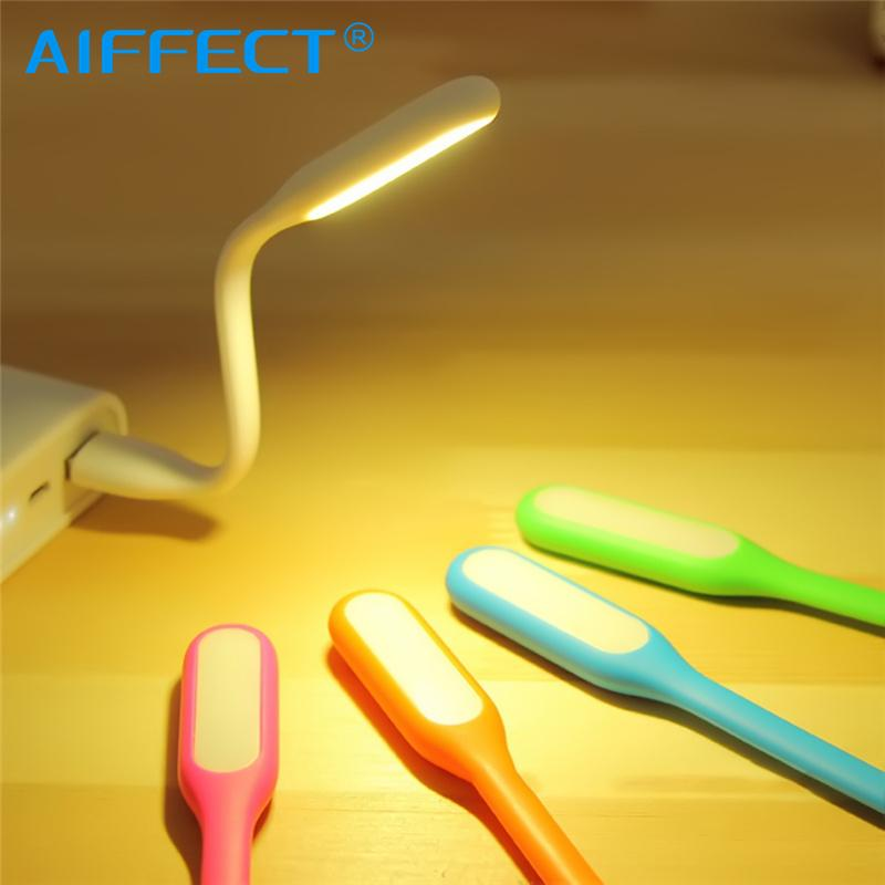 AIFFECT Mini USB flessibile lampada da tavolo luce gadget Luminoso portatile Mini USB LED per Power Bank PC Laptop Notebook Gadget