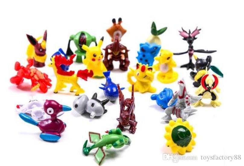 Con muñeca 7 CM Pelota Pok Estrés Pelota Pikachu Monstruo Niños Niños Cosplay de dibujos animados ABS Acción Anime Juguetes Regalos 13 estilo