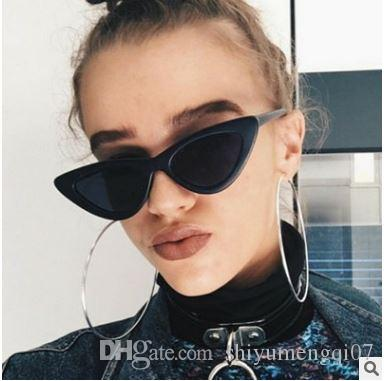 3906f4cafd 2018 Triangle Small Cat Eye Sunglasses Sexy Women Classic Cateye Frame  Black Red Tint Sun Glasses Polit Optical Shades Sunglasses Uk Polarised  Sunglasses ...