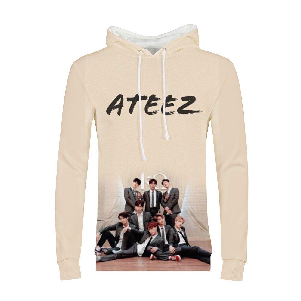 2019 Kpop Group ATEEZ Women Hoodies Sweatshirts Hongjoong Seonghwa Yunho  Yeosang San Mingi Wooyoung Jongho ATEEZ A TEEnager Z