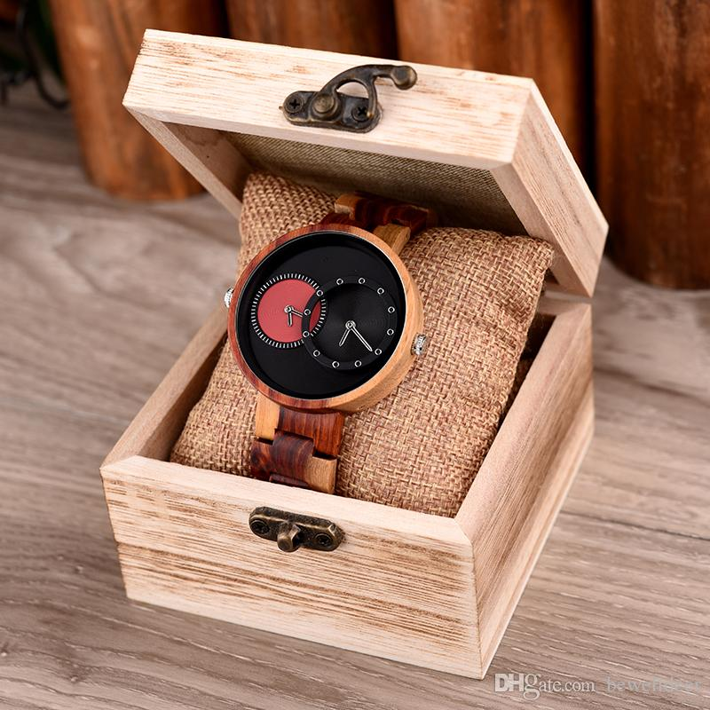 25f8ab21291 BOBO BIRD Multiple Time Zone Wooden Watch For Men Women Fashion Luxury Wood  Wristwatch Timepiece Reloj Hombre Wholesale Shop Watches Online Shopping  For ...