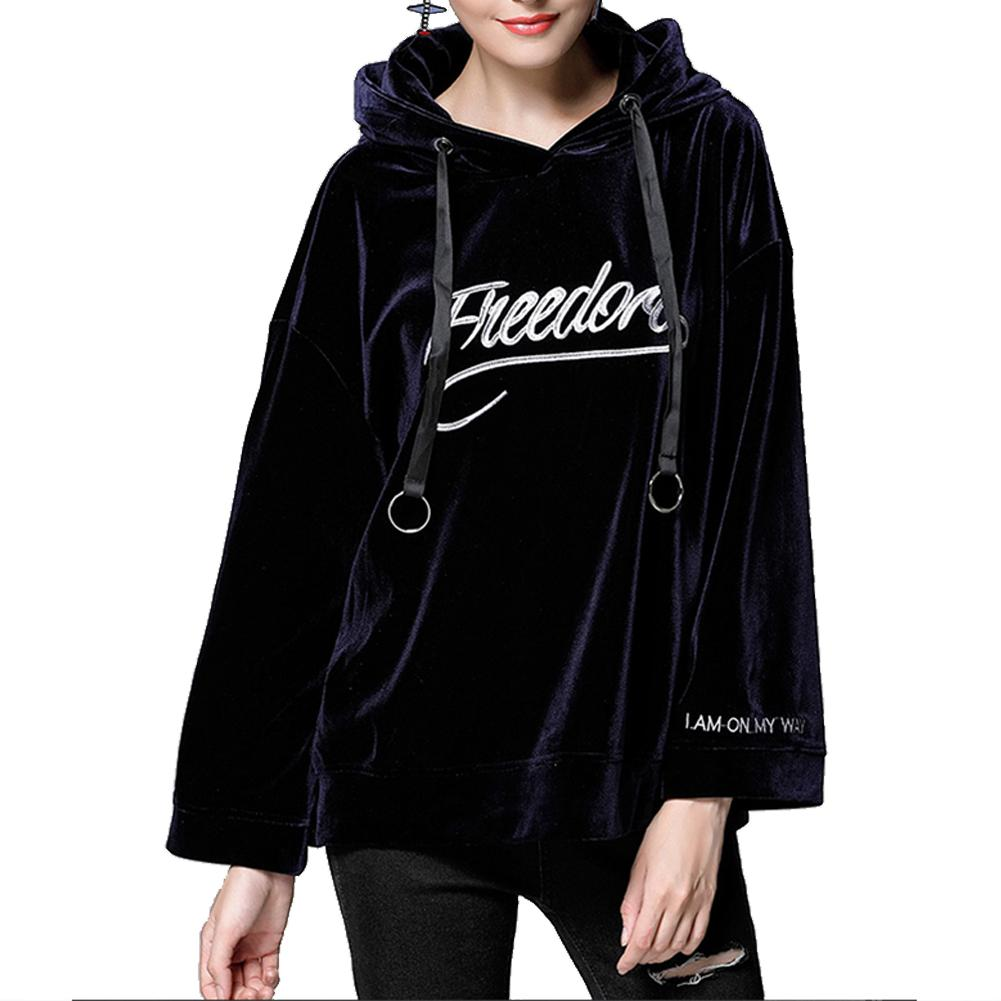women clothes 2019 New Women hoodies sweatshirt Autumn winter Warm long sleeve Hooded loose letters printing Hoodie