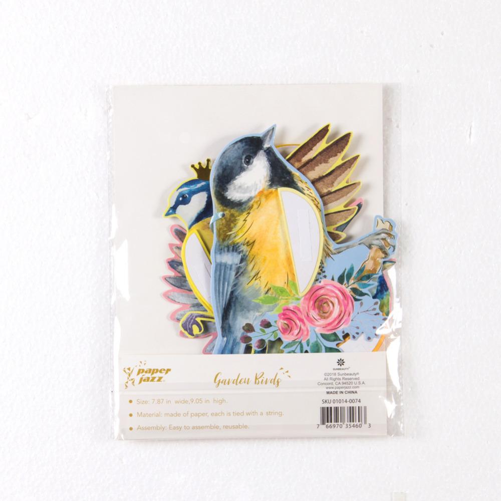Hanging Paper Party Decoration Honeycomb Birds Tiki for Wedding Birthday Garden Tea Party Easter Spring Decor