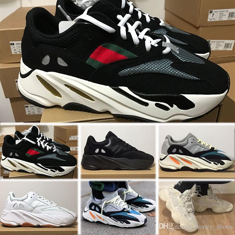 size 40 0f39e 4d84f Acquista Adidas YEEZY 700 V2 Static 2019 Wave Runner 700 V2 Mens Scarpe Da  Corsa Statico Malva EE9614 Solid Grey B75571 Moda Sport Donna Sport  Sneakers ...