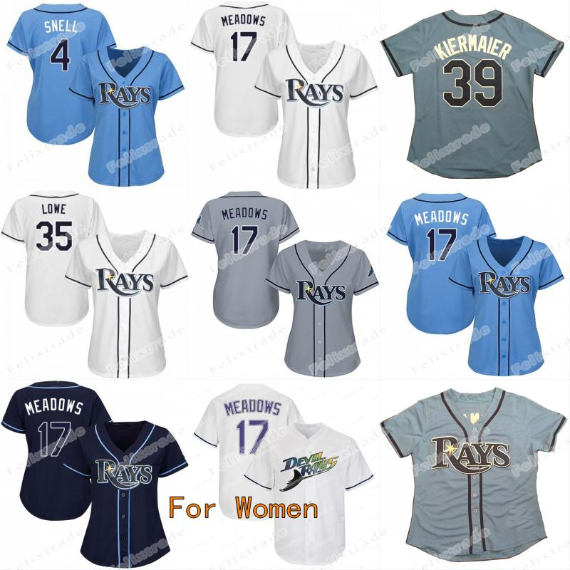newest collection b08f1 75769 Womens Lady 17 Austin Meadows Tampa Bay Brandon Lowe Rays Kevin Kiermaier  Yandy Diaz Tommy Pham Avisail Garcia Blake Snell Wade Boggs Jersey