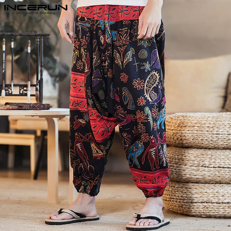 Acquista Vintage Etnico Boho Mens Harem Pants Hiphop Baggy Stile Punk  Pantaloni Cavallo Basso Maschile Pantalon Hombre Pants Joggers Gambe Larghe  A  23.4 ... a6d115c42f12
