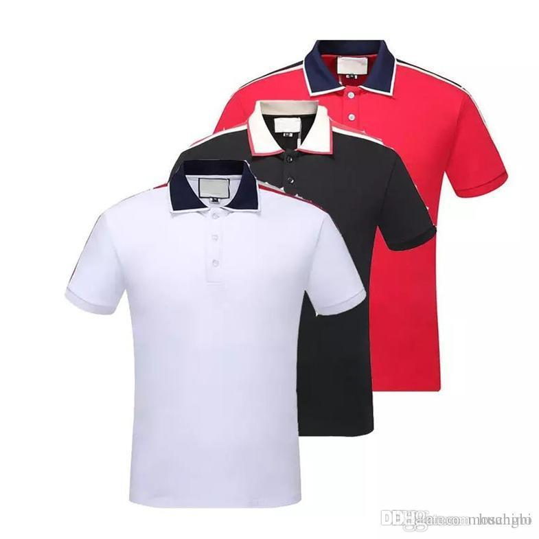 730b40f5709 Summer High Quality Men s Cotton Polo Shirt 2019 Leisure Men s Short ...