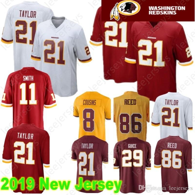 size 40 bbb1f d5de8 Washington 21 Sean Taylor Redskins Jersey 11 Alex Smith 26 Peterson 86 Reed  29 Derrius Guice 8 Kirk Cousins 100% Stitched Jerseys