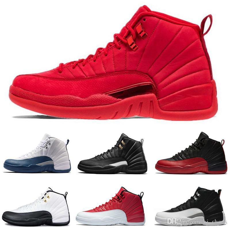 0f1c96364c133f Friday Gym Red Mens Basketball Shoes 12 12s Michigan Navy Bulls Flu ...