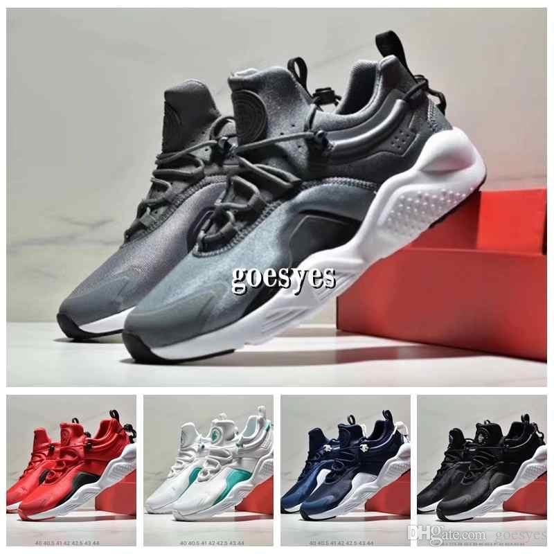best sneakers b73e3 682f0 Acheter Nike 2019 Air Huarache 8 Ultra Chaussures Hommes Femmes Top Qualité  Blanc Noir Huarache Move Trainer Sneakers Huaraches Jogging À L extérieur  ...