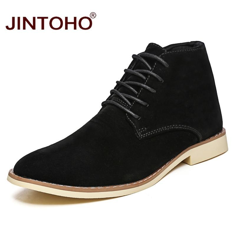 c09e1925fc Compre JINTOHO 2018 Novos Homens Sapatos De Inverno Homens Da Moda Porco  Botas De Camurça Dedo Apontado Toe Homens Sapatos Casuais Homens Botas De  Inverno ...
