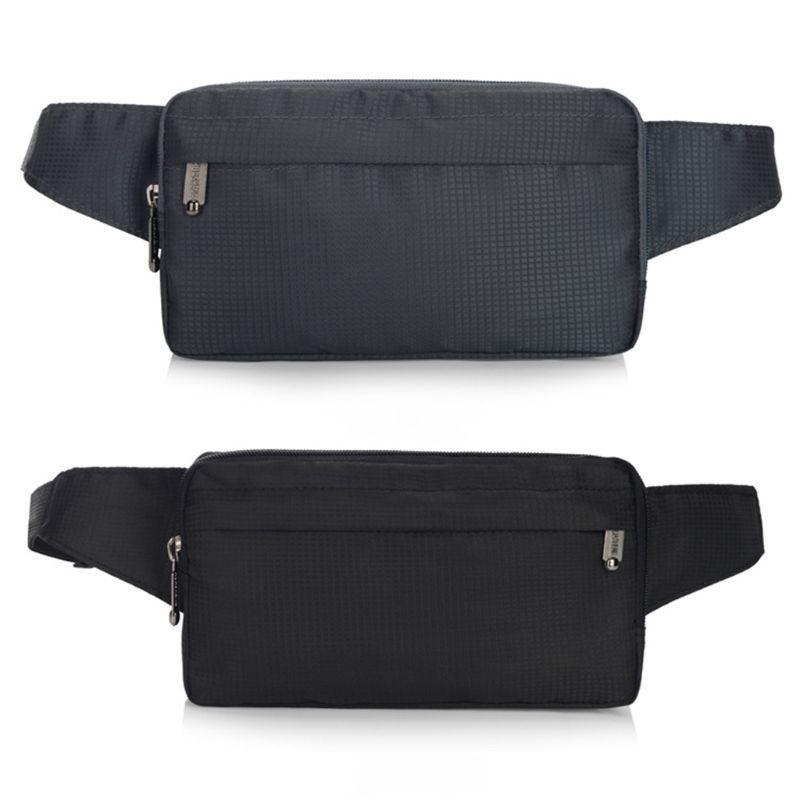 US Phone PU Leather Belt Men Waist Zipper Bag Pack Clutch Purse Pouch Wallet Bag