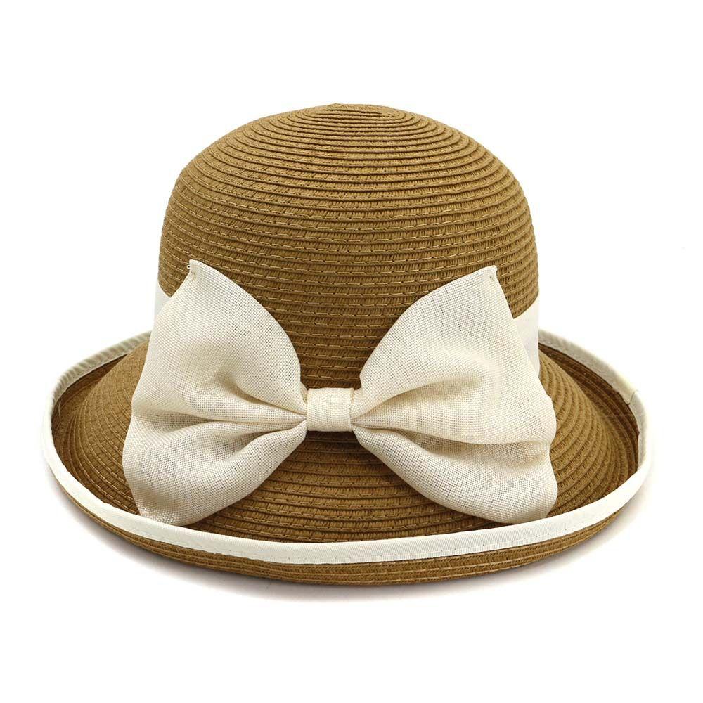 varietà di design famoso marchio di stilisti 100% qualità 2019 Panama moda cappello di paglia femminile arco di curling top hat  cupola pescatore sole di mare