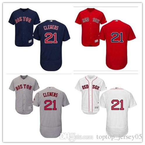 b9e05ff50 2019 2018 Can Boston Red Sox Jerseys  21 Roger Clemens Jerseys  Men WOMEN YOUTH Men S Baseball Jersey Majestic Stitched Professional  Sportswear From ...
