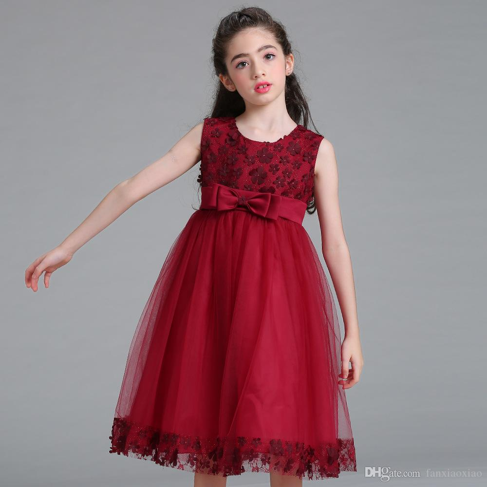 Children's dress girls flower princess dresses sequins flower girl wedding dress