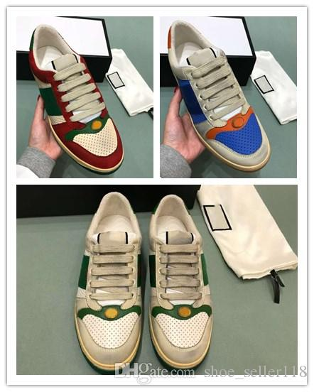 1c040319956 Multicolor Screener Sneakers Fashion Vintage Italy Brand Design Classic Men  Trainers House Web Stripe Lace Up Causal Sneakers Leopard Print Shoes White  ...
