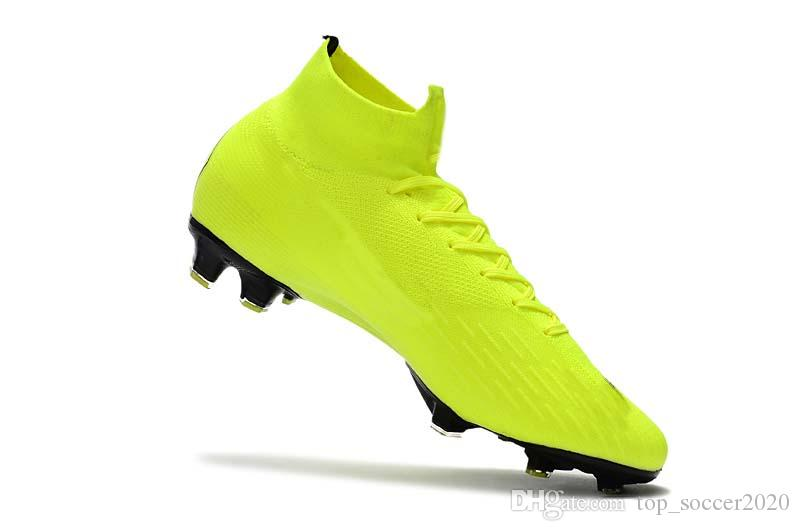 2019 Top Quality Mens Women Kids Football Boots Mercurial Superfly VI 360 Elite  FG Soccer Shoes CR7 Soccer Cleats Sneakers From Top soccer2020 d767b1c696