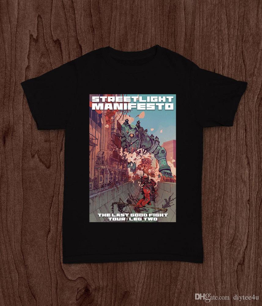 2e462627f Streetlight Manifesto Tour : Leg Two Ska Punk Band T-Shirt Tee S M L Xl 2Xl T  Shirt Men's Fabulous Short Sleeve Thanksgiving Day Custom Big