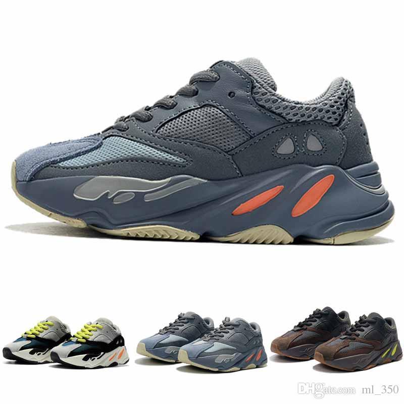 Kinder Schuhe Wave Runner 700 Laufschuhe Kanye West Sneaker Junge Mädchen Trainer Turnschuhe Hohe Qualität Kinder Sportschuhe
