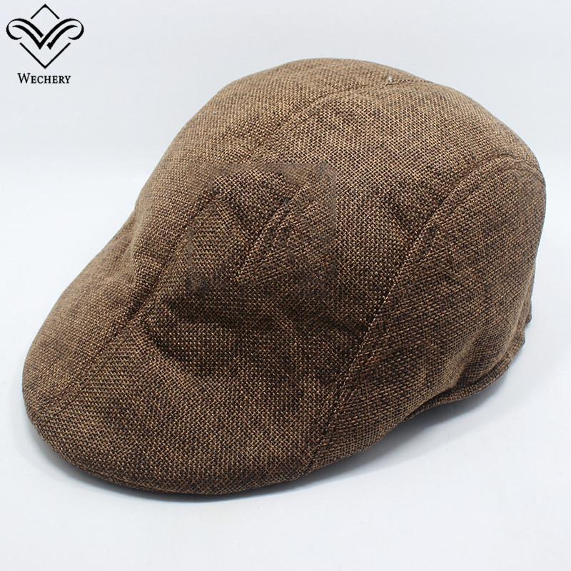 Compre Wechery Cap Hombres Sombrero De Boina Algodón Sólido Sombreros  Calientes Detective De La Moda Gorros Vendedor De Libros Boina Vintage  Invierno Bonnet ... 3a47e033d1c