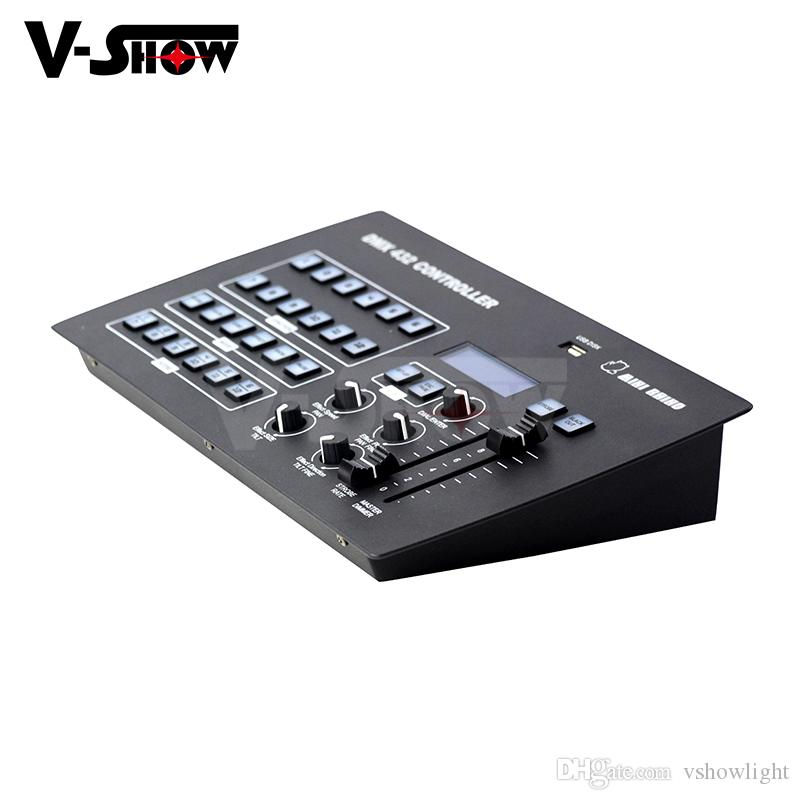 Vshow New Mini function DMX Controller 432 channels control up to 12  individual fixtures including USB disk for stage lighting console