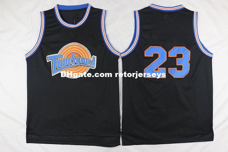 65b567dc68ae 2019  23 Space Jam Tune Squad Basketball Jersey Stitched XS 6XL Black From  Retorjerseys